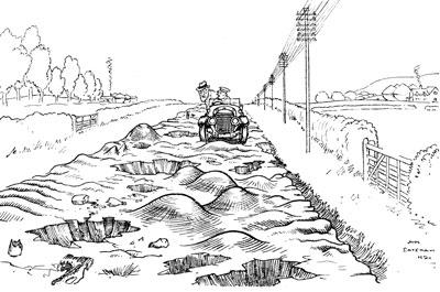 карикатура дороги