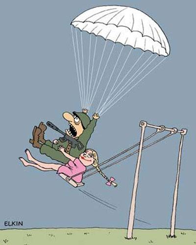 карикатура солдаты
