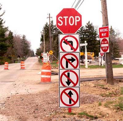 прикол дорожный знак