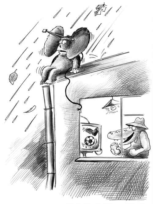 карикатура чебурашка