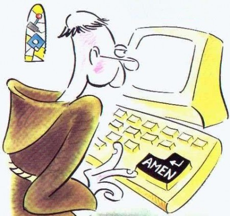 карикатура священик